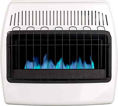 Dyna-Glo 30,000 BTU Natural Gas Blue Flame Vent Free Wall Heater, White: image