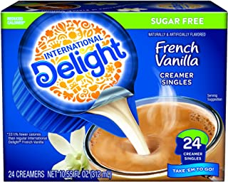 International Delight Sugar Free Mini I.D.'s Coffee Creamer French Vanilla, 24 Count