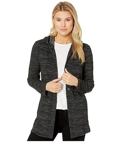 Lucky Brand Hooded Button Jacket (Lucky Black) Women