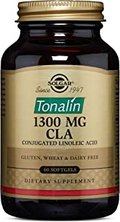 Solgar Tonalin CLA 1300 mg, 60 Softgels - Essential Omega-6 Fatty Acid - Derived from Non-GMO Safflower Seed Oil - Gluten ...