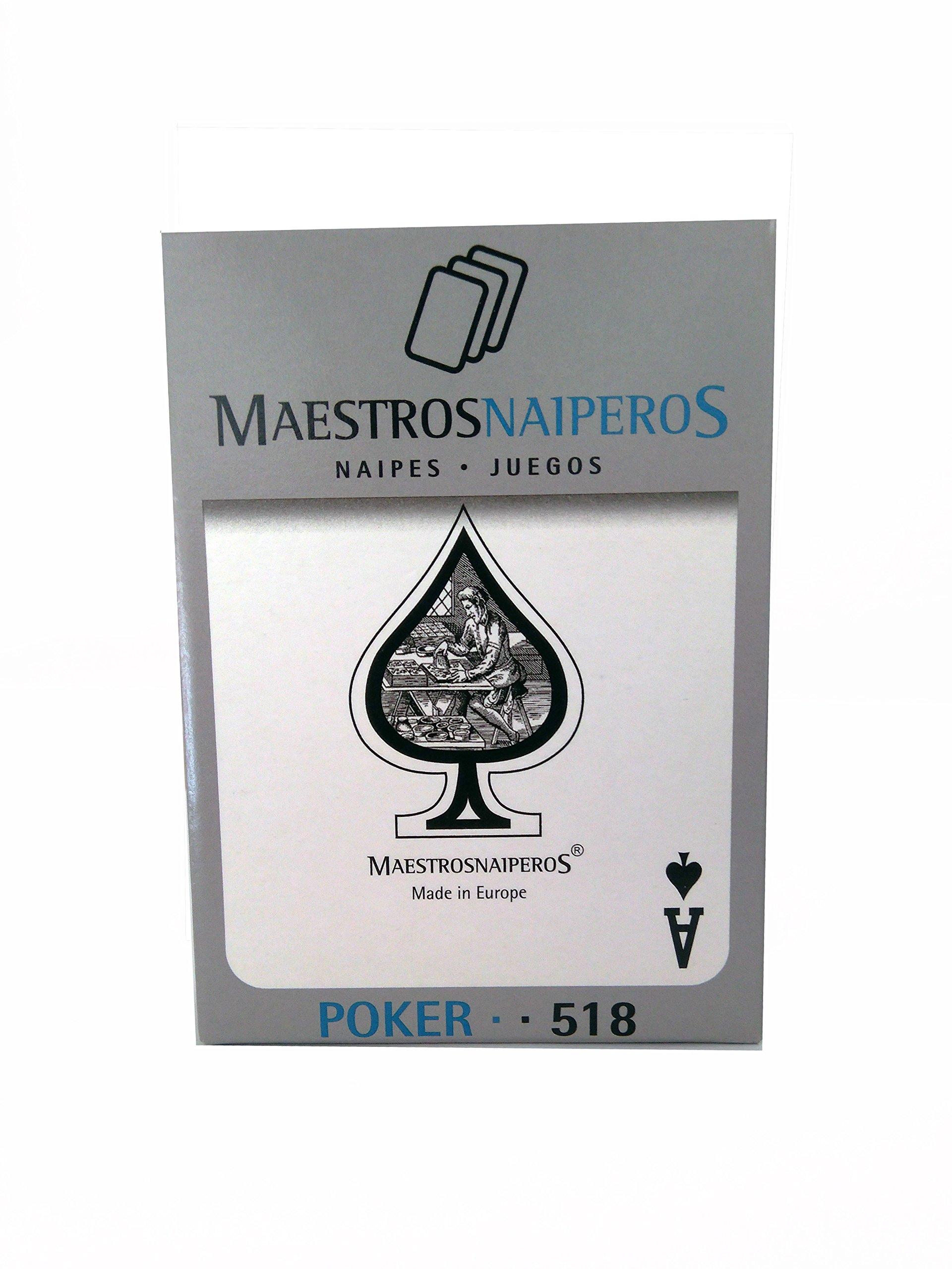 Maestros Naiperos- baraja Poker, clásico, 55, Cartas, Estuche cartón, Calidad Gran Casino, Color Azul o Rojo (130003030): Amazon.es: Juguetes y juegos