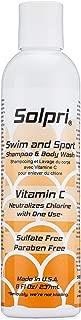 Solpri Swimmers Chlorine Swim Shampoo and Body Wash with Vitamin C 8 Fl Oz
