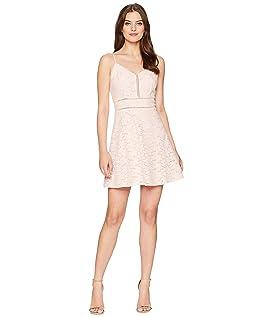 Sleeveless Fit & Flare Mono Dress