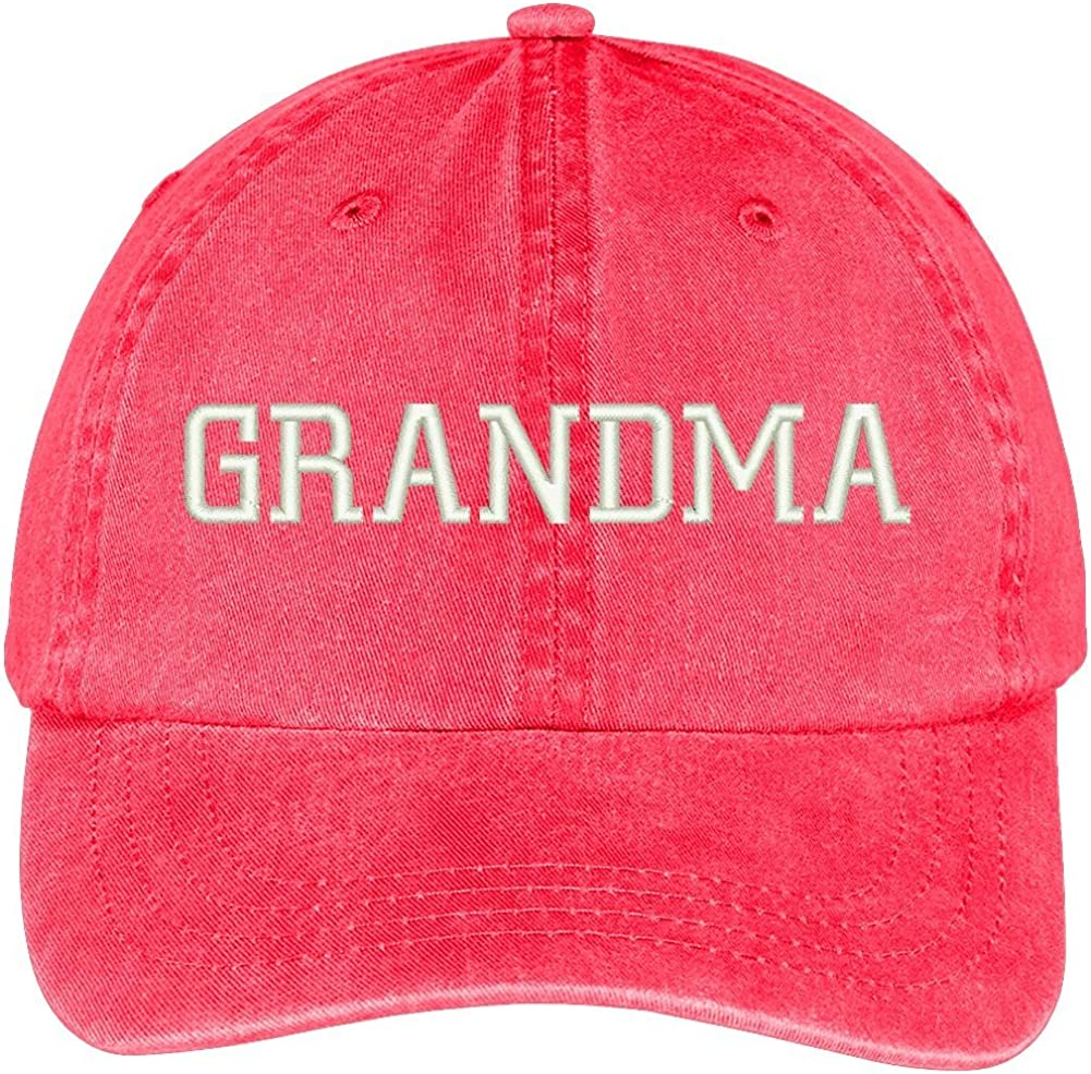 Trendy Apparel Shop Grandma Embroidered Pigment Dyed Low Profile Cotton Cap