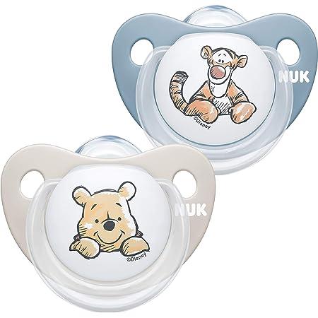 Nuk Ciuccio Space Gufo e Panda Silicone senza BPA 2 pezzi 50 g 6-18 mesi Succhietti con extra ventilazione