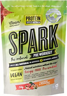 Protein Supplies Australia Spark All Natural Pre-Workout Powder, Strawberry and Passionfruit 250 g, Strawberry and Passion...