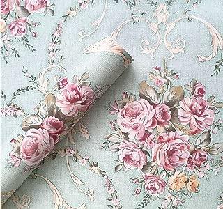 BESTERY Vintage Floral Adhesive Paper Vinyl Shelf Liner Peel Stick Dresser Drawer Sticker Home Deco 17.7inch by 118inch (Multi-Flower3)