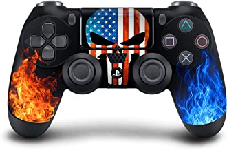 PS4 DualShock wireless Controller Pro console - Newest PlayStation4 Controller with Soft Grip & Exclusive Customized Version Skin(PS4-American Warrior)