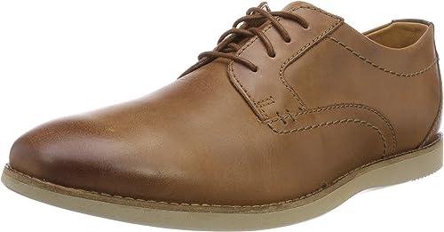 Men S Raharto Plain Derbys Brown Dark Tan Leather 6 UK