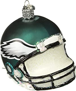 Old World Christmas Philadelphia Eagles Glass Blown Ornaments for Christmas Tree Helmet