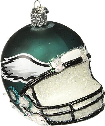46cf4f3d88bc96 Old World Christmas Glass Blown Ornament Philadelphia Eagles Helmet
