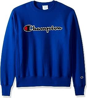 Champion LIFE Men's Reverse Weave Sweatshirt, Surf The Web/Chenille Script, X-Large