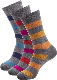 Mens Bamboo Casual Crew Socks Anti Odor Socks For Sweaty Feet Large Size 10-13 & X-Large Size 13-15