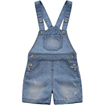 1cf84c04f3b2 Kidscool Baby  amp  Toddler Girls Boys Big Bibs Ripped Summer Jeans  Shortalls