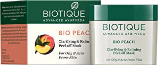 Biotique Bio Peach Clarifying & Refining Peel-Off Mask For Oily & Acne Prone Skin, 50G - 1 Pack