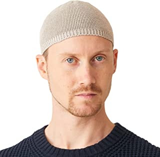 336a3c7e2f02b CHARM Mens Beanie Skull Cap - Linen   Cotton Japanese Fashion Knit Hat  Summer Kufi Cap