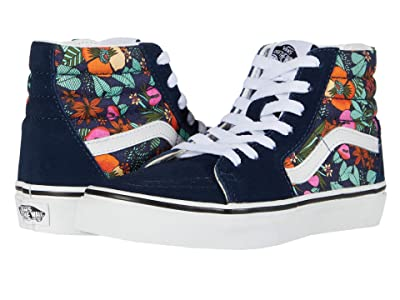 Vans Kids SK8-Hi (Little Kid) ((Multi Tropic) Dress Blues/True White) Girls Shoes