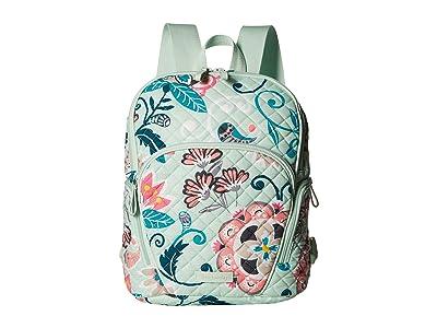 Vera Bradley Hadley Backpack (Mint Flowers) Backpack Bags