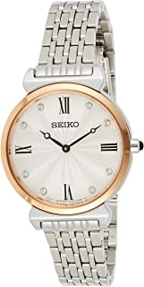 Seiko Wrist Watch Womens Quartz Dress Watch, Analog and Stainless Steel - SFQ798P1