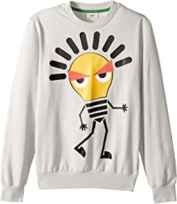 Fendi Kids - Long Sleeve Sweat Top w/ Lightbulb Design on Front (Big Kids)