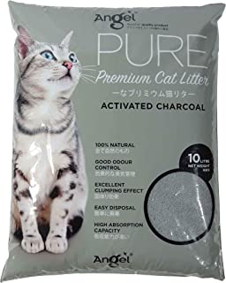 Angel Pure Premium Activated Charcoal Cat Litter, 10L