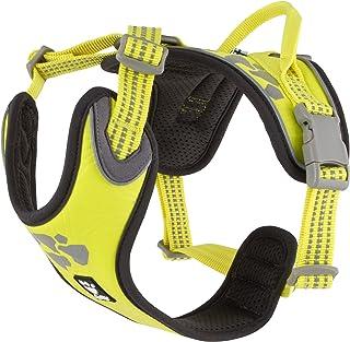 Hurtta Weekend Warrior Dog Harness, Neon Lemon, 32-39 in