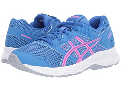ASICS Kids Gel-Contend 5 GS (Big Kid) (Blue Coast/Hot Pink) Girls Shoes