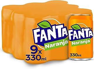 Fanta Naranja Lata - 330 ml (Pack de 9