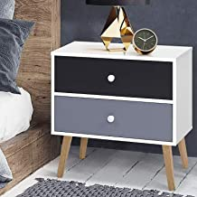 Artiss Wooden Bedside Table, White