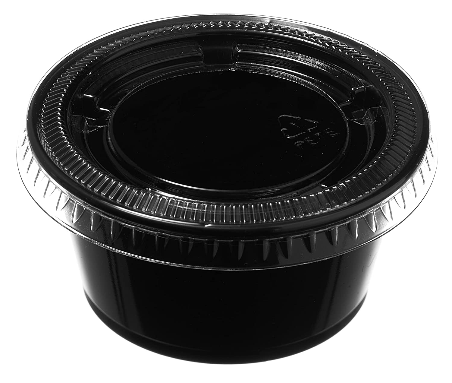 1 Oz Long-awaited Leak Proof Black Genuine Free Shipping with Souffle Containers Plastic Condiment