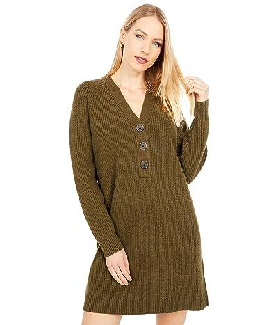 Madewell Henley Sweaterdress (Heather Elm) Women