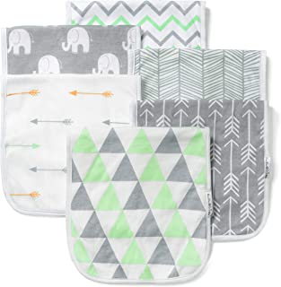 Baby Burp Cloths Set (6 Pack), Super Soft Cotton, Large 21x10, Thick, Soft and Absorbent Towels, Burping Rags for Newborns, Baby Shower Gift for Boys and Girls by BaeBae Goods