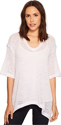 Oversize V-Neck Lightweight Sweater Top