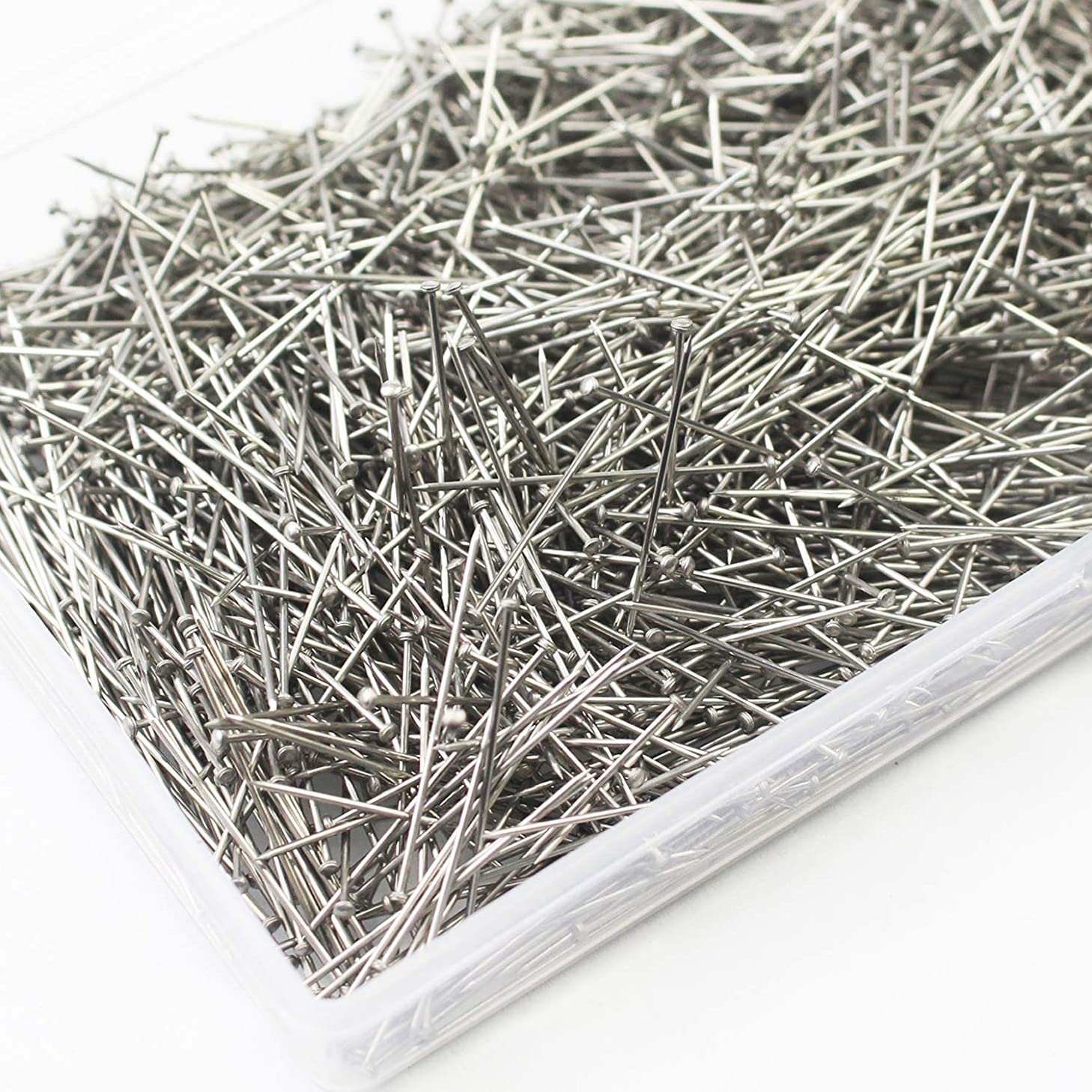 WeiMeet 2000 Pieces Stainless Steel Head Pins Fine Satin Pin Dressmaker Pins for Sewing Craft Jewelry Making