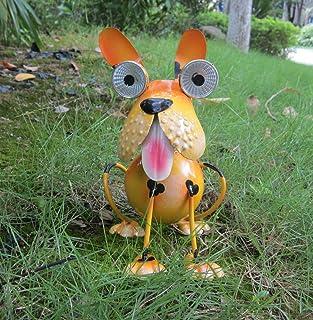 Dog Solar Lights Outdoor, Solar Animal Lights,Outdoor Funny Dog Statue for Garden Decor Yard Lawn Ornaments