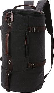 Men's Canvas Backpack Travel Duffel Backpack Bag Large School Bookbag 3-In-1