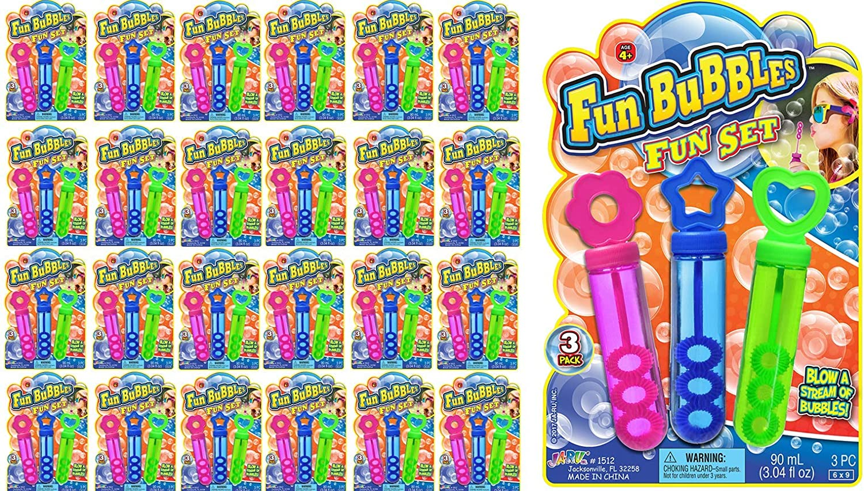 JA-RU Bubbles Fun Pops Bubble Wands of Set 24 Atlanta Mall Inexpensive M 3 Packs