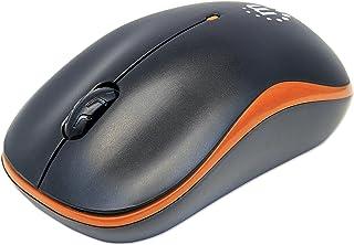 Manhattan Success Wireless Mouse, Black/Orange, 1000dpi, 2.4Ghz (up to 10m), USB, Optical, Three Button with Scroll Wheel,...
