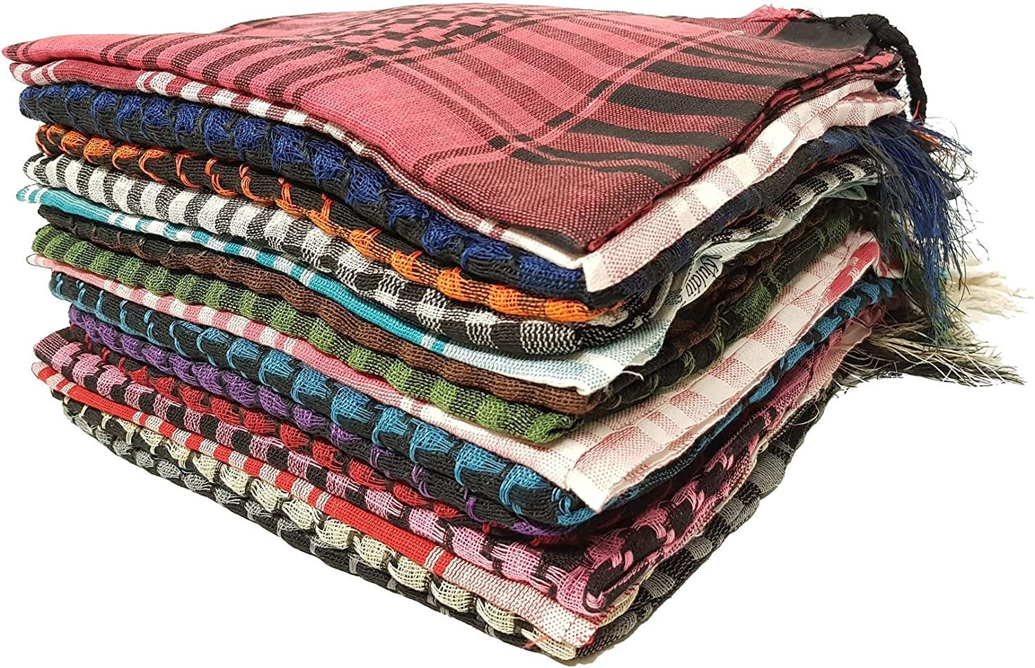 Kuldip Arafat Shemagh Arab Headscarf. Factory Seconds. Mixed colors. Pack of 20