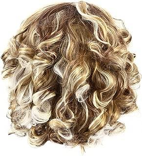 Frcolor Peluca ondulada corta peluca rizada corta del pelo rubio de las mujeres para la decoración diaria del partido