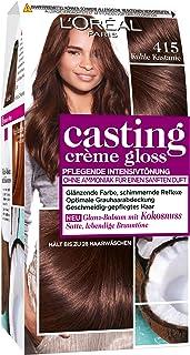L'Oréal Paris casting Creme Gloss color de cabello cuidado de 415 fresca de la castaña, Paquete 1er (1 x 1 pieza)