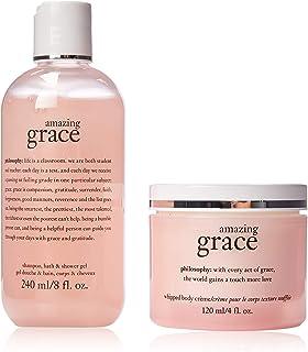 Philosophy Youre Amazing By Philosophy for Women - 2 Pc Set 8oz Shampoo, Bath & Shower Gel Amazing Grace, 4oz Whipped Body Creme Amazing Grace, 2count