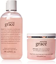 Philosophy Youre Amazing By Philosophy for Women - 2 Pc Set 8oz Shampoo, Bath & Shower Gel Amazing Grace, 4oz Whipped Body Creme Amazing Grace, 2count