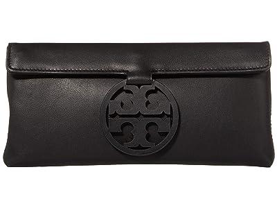 Tory Burch Miller Clutch (Black) Handbags