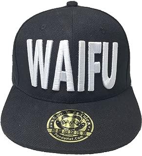 PANDAHAT Waifu 3D Puff Embroidery Snapback HAT Black