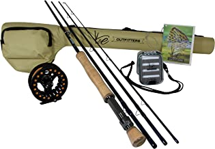 K&E Outfitters Drift Series 8wt Fly Fishing Rod and Reel Complete Package