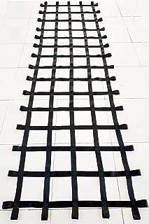 FONG 12 ft X 4 ft Climbing Cargo Net Black - Swing Set Accessories - Indoor Climbing net - Outdoor Playground Swing, Belt Swing, Playground Hanging Step Ladder