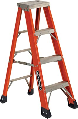 Louisville Ladder FS1304HD 375-Pound Duty Rating, Fiberglass Step Ladder, 4-Feet