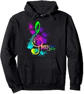 Artistic Rainbow Music Note Hoodie