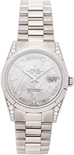 Rolex Day-Date Mechanical (Automatic) Silver Dial Womens Watch 118339 (Certified Pre-Owned)